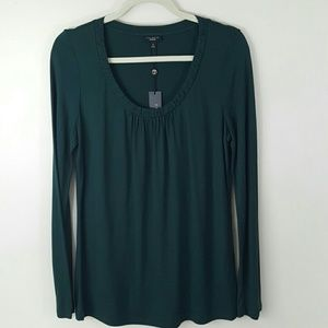 NWT TALBOTS Evergreen Long Sleeve Tee-Medium